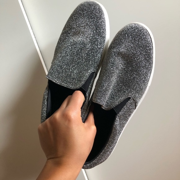 Shoes | Sparkly Silver Loafers | Poshmark